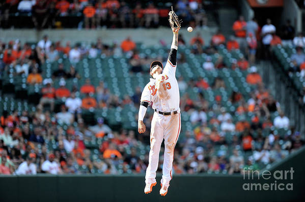 People Art Print featuring the photograph Boog Powell and Manny Machado by Greg Fiume