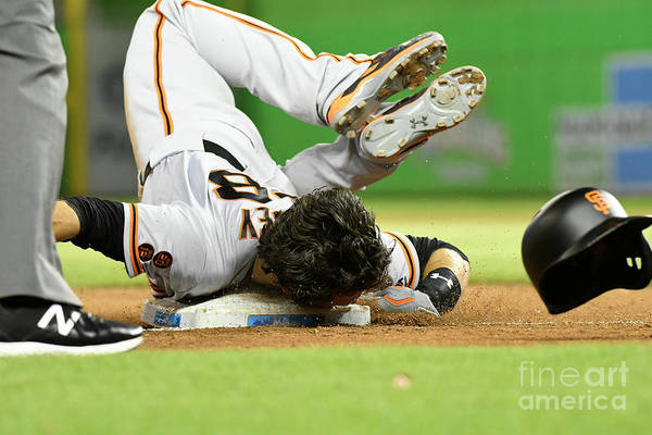 People Art Print featuring the photograph Brandon Crawford and Buster Posey by Eric Espada