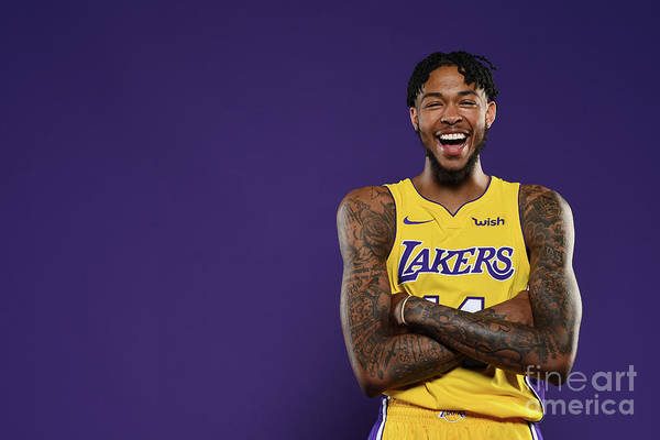 Media Day Art Print featuring the photograph Brandon Ingram by Aaron Poole