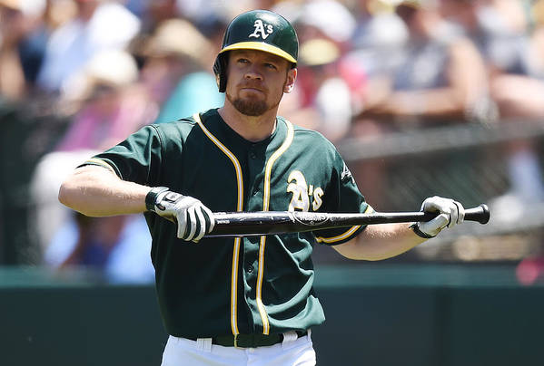 American League Baseball Art Print featuring the photograph Brandon Moss by Thearon W. Henderson
