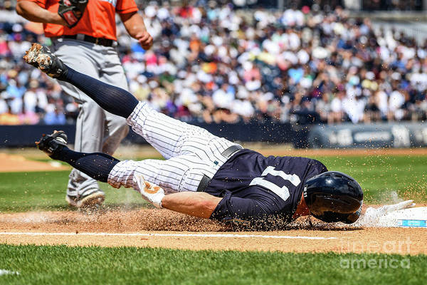 People Art Print featuring the photograph Brett Gardner by Mark Brown
