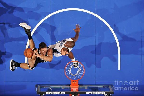 Nba Pro Basketball Art Print featuring the photograph Brook Lopez by Fernando Medina