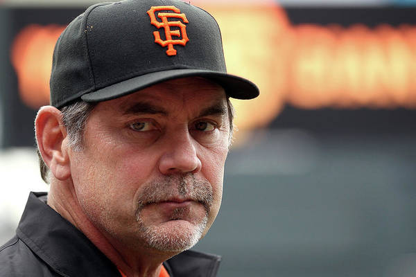 Bruce Bochy Art Print featuring the photograph Bruce Look by Doug Pensinger
