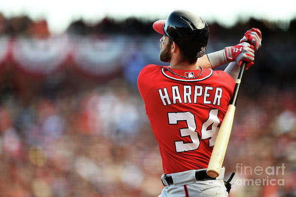 San Francisco Art Print featuring the photograph Bryce Harper by Thearon W. Henderson