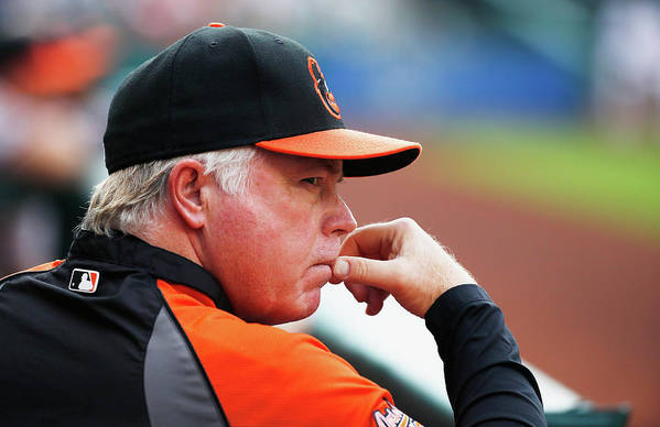 American League Baseball Art Print featuring the photograph Buck Showalter by Scott Halleran