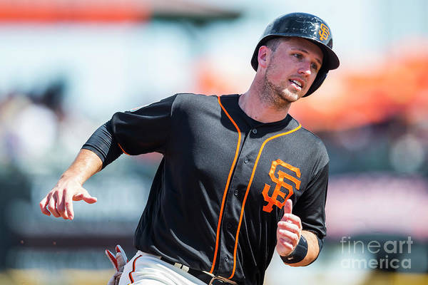 Three Quarter Length Art Print featuring the photograph Buster Posey by Rob Tringali