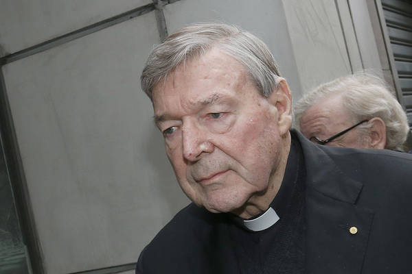 People Art Print featuring the photograph Cardinal George Pell Attends Court To Face Historical Child Abuse Charges by Darrian Traynor