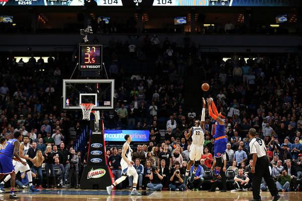 Nba Pro Basketball Art Print featuring the photograph Carmelo Anthony by Jordan Johnson