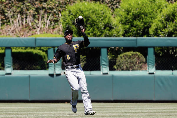 People Art Print featuring the photograph Chase Utley and Starling Marte by Brian Garfinkel