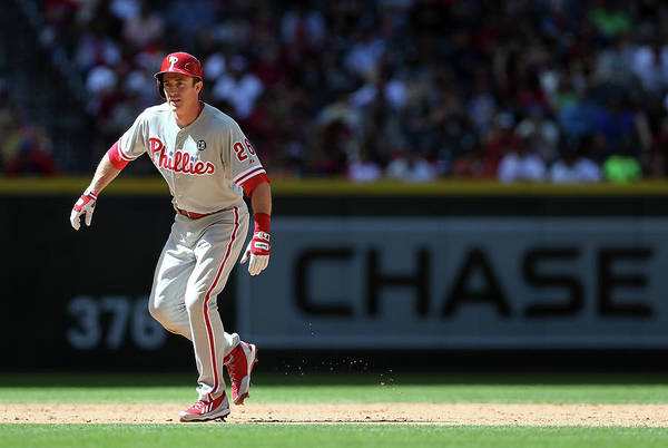 2nd Base Art Print featuring the photograph Chase Utley by Christian Petersen