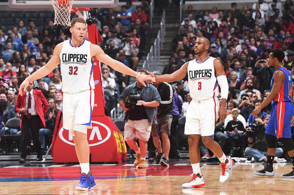 Nba Pro Basketball Art Print featuring the photograph Chris Paul and Blake Griffin by Juan Ocampo