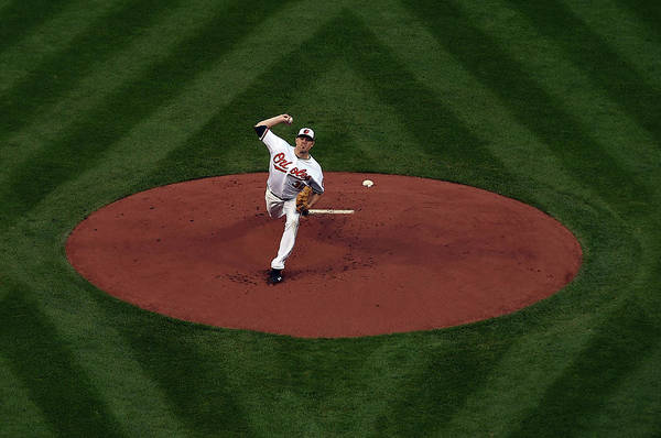 American League Baseball Art Print featuring the photograph Chris Tillman by Patrick Smith