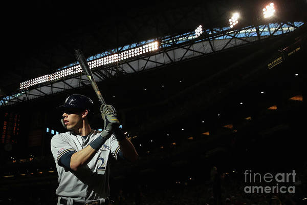 People Art Print featuring the photograph Christian Yelich by Christian Petersen