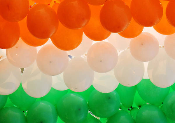 Orange Color Art Print featuring the photograph Close-up of multicolored balloons by Anjandeep Kujur / FOAP