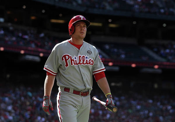 Ninth Inning Art Print featuring the photograph Cody Asche by Christian Petersen