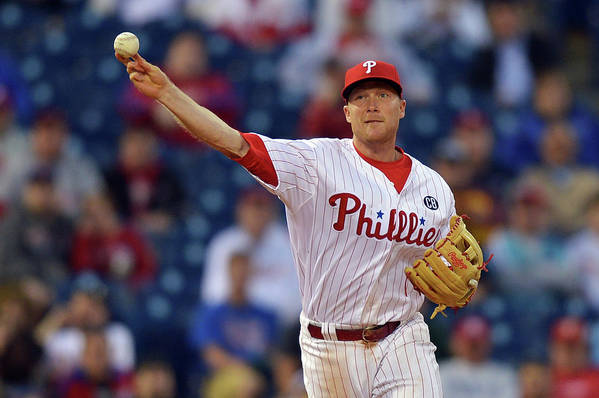 Ninth Inning Art Print featuring the photograph Cody Asche by Drew Hallowell