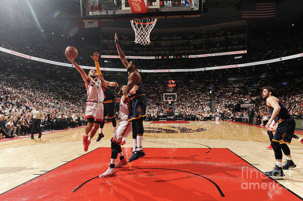 Playoffs Art Print featuring the photograph Cory Joseph by Ron Turenne