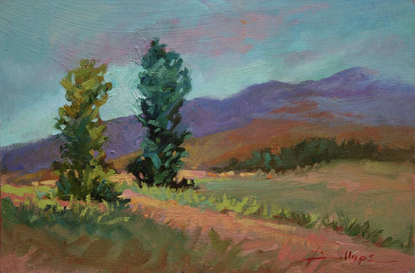 Cottonwood Paintings Art Print featuring the painting Cottonwoods by Betty Jean Billups