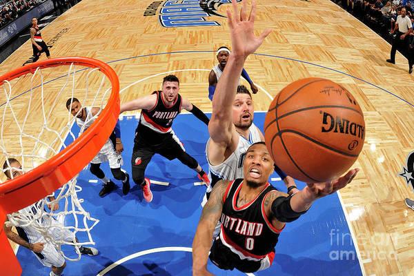 Nba Pro Basketball Art Print featuring the photograph Damian Lillard by Fernando Medina