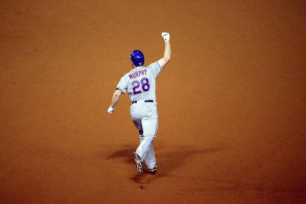 Daniel Murphy - Baseball Player Art Print featuring the photograph Daniel Murphy and Fernando Rodney by Jon Durr