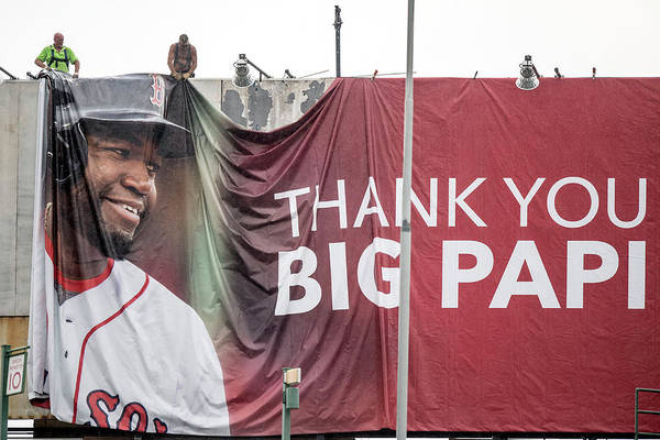 American League Baseball Art Print featuring the photograph David Ortiz by Billie Weiss/boston Red Sox