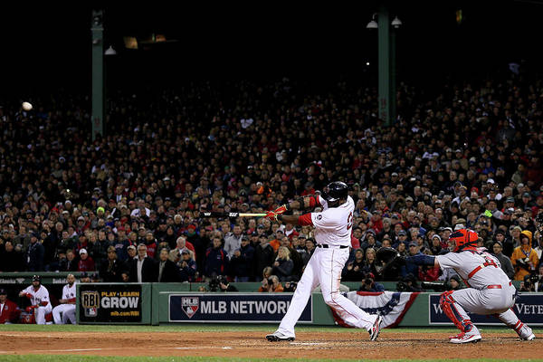 Game Two Art Print featuring the photograph David Ortiz by Rob Carr