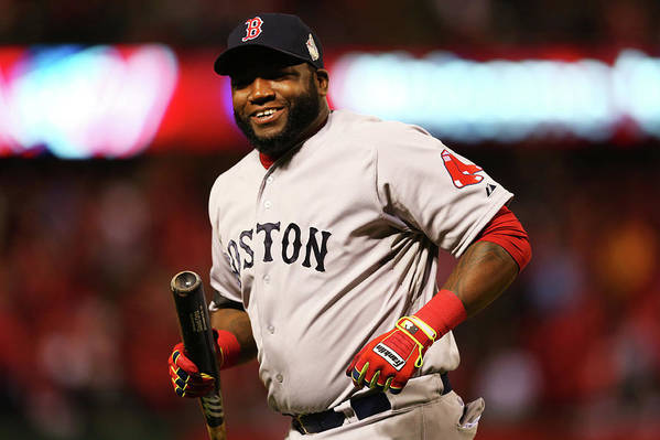 American League Baseball Art Print featuring the photograph David Ortiz by Ronald Martinez