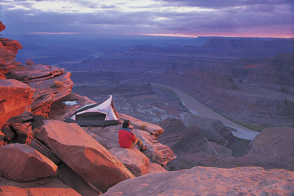 Camping Art Print featuring the photograph Dead Horse Point Park, Utah, USA by Digital Vision.