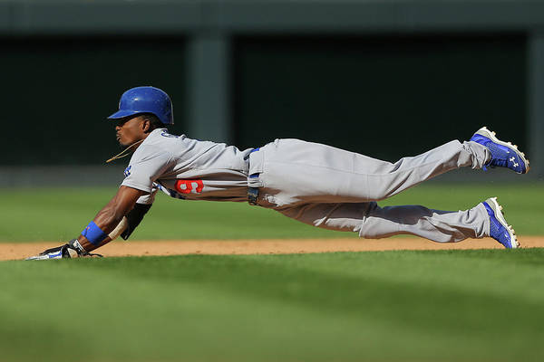Los Angeles Dodgers Art Print featuring the photograph Dee Gordon by Justin Edmonds