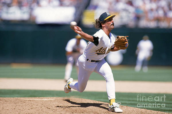 American League Baseball Art Print featuring the photograph Dennis Eckersley by Jed Jacobsohn