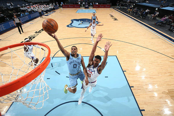 Nba Pro Basketball Art Print featuring the photograph Denver Nuggets v Memphis Grizzlies by Joe Murphy