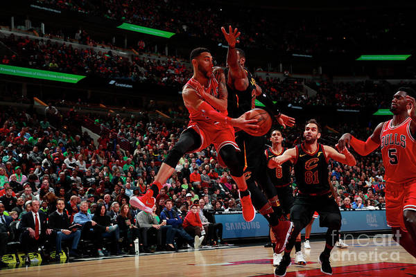 United Center Art Print featuring the photograph Denzel Valentine by Jeff Haynes