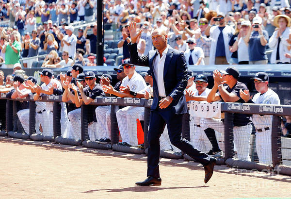 People Art Print featuring the photograph Derek Jeter and Jorge Posada by Jim Mcisaac