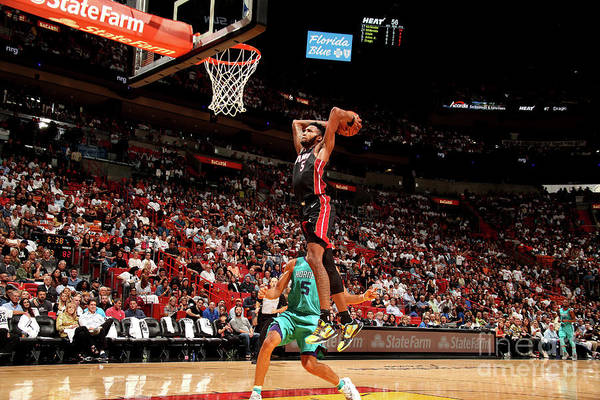 Nba Pro Basketball Art Print featuring the photograph Derrick Jones by Issac Baldizon