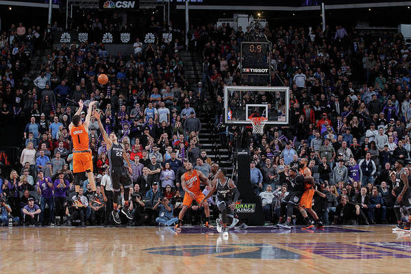 Nba Pro Basketball Art Print featuring the photograph Devin Booker by Rocky Widner