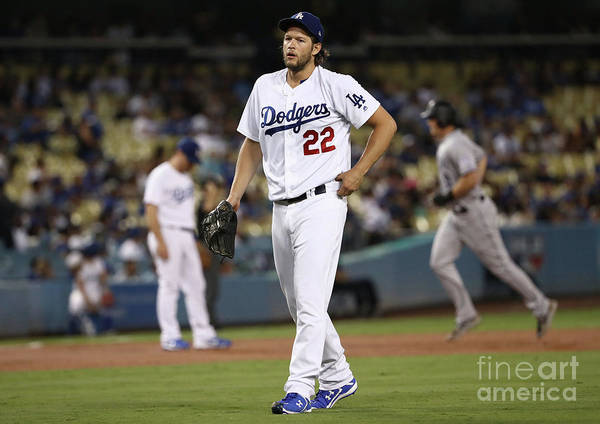People Art Print featuring the photograph Dj Lemahieu and Clayton Kershaw by Victor Decolongon