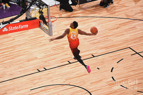 Event Art Print featuring the photograph Donovan Mitchell by Noah Graham