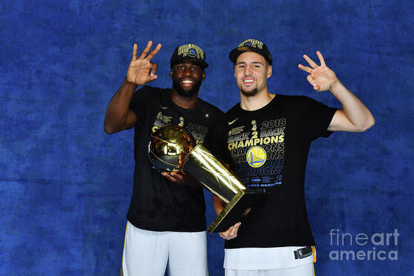 Playoffs Art Print featuring the photograph Draymond Green and Klay Thompson by Jesse D. Garrabrant