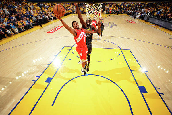 Playoffs Art Print featuring the photograph Draymond Green and Kyle Lowry by Jesse D. Garrabrant