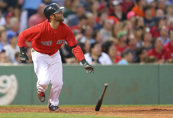 People Art Print featuring the photograph Dustin Pedroia by Jim Rogash