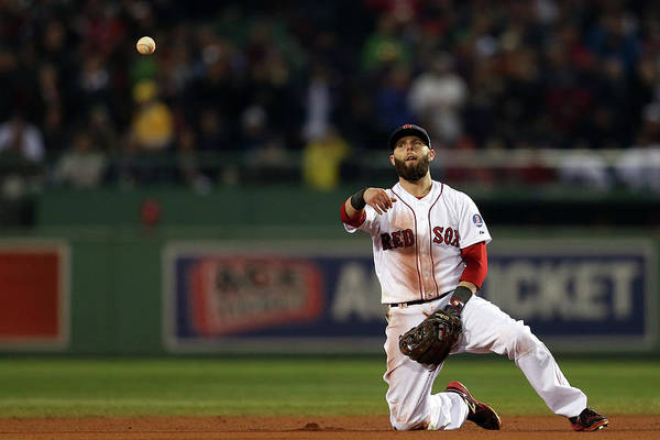 Playoffs Art Print featuring the photograph Dustin Pedroia by Rob Carr