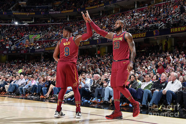 Nba Pro Basketball Art Print featuring the photograph Dwyane Wade and Lebron James by David Liam Kyle