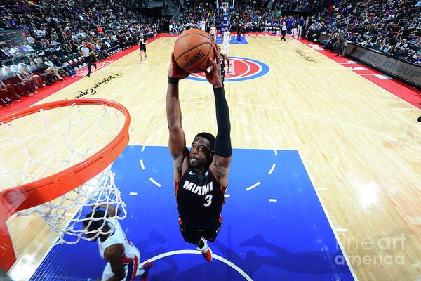 Nba Pro Basketball Art Print featuring the photograph Dwyane Wade by Chris Schwegler
