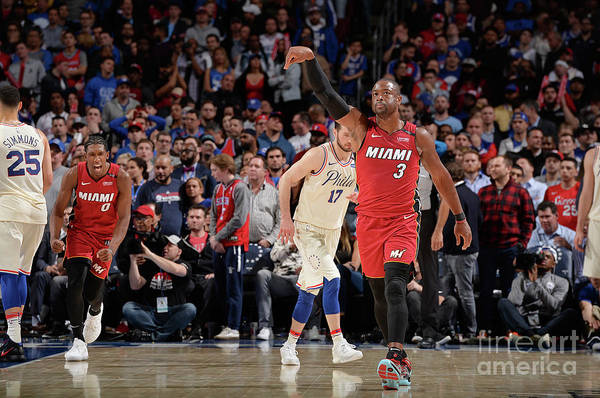 Playoffs Art Print featuring the photograph Dwyane Wade by David Dow