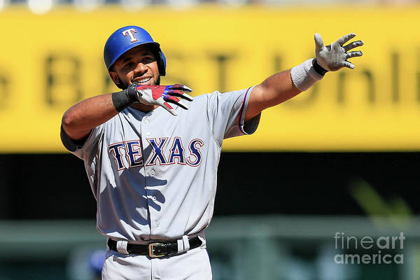 People Art Print featuring the photograph Elvis Andrus by Brian Davidson