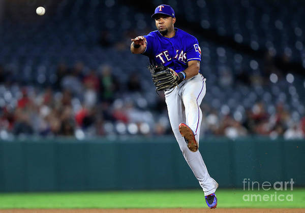 People Art Print featuring the photograph Elvis Andrus by Sean M. Haffey