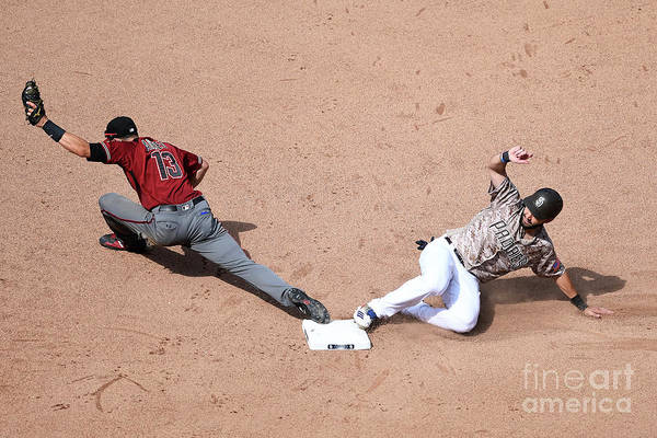 People Art Print featuring the photograph Eric Hosmer and Nick Ahmed by Andy Hayt
