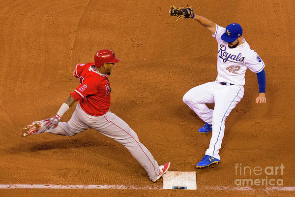 People Art Print featuring the photograph Eric Hosmer and Yunel Escobar by Kyle Rivas