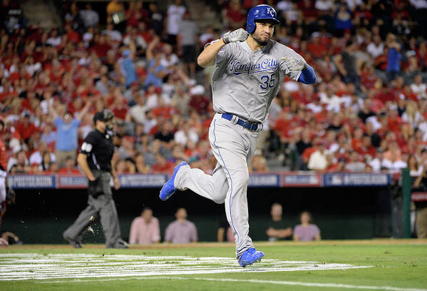 Game Two Art Print featuring the photograph Eric Hosmer by Harry How