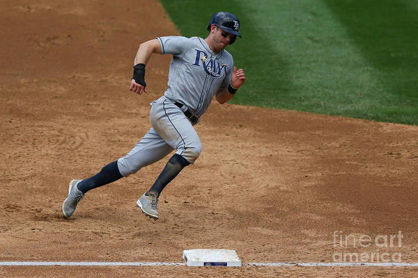 People Art Print featuring the photograph Evan Longoria by Justin Edmonds